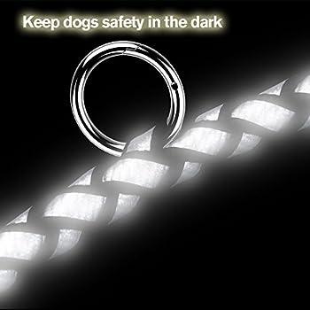Peteast Multifunktions-hundeleine, Reflektierende 8.3ft Lange Hundetraining Und Walking Leine Für Kleine, Mittlere Und Große Hunde 3