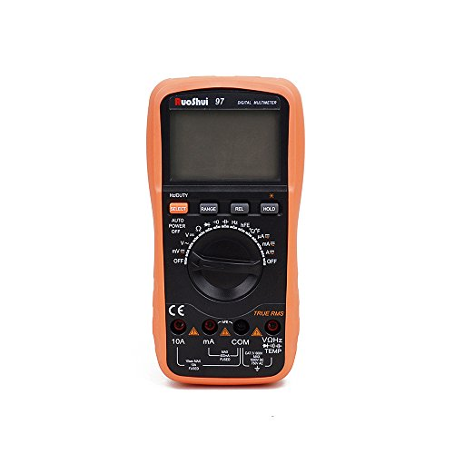 Multímetro digital RuoShui 97 3999 con medidor de corriente de CA de CC y pantalla LCD