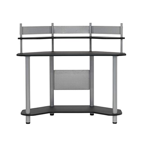 Calico Designs Study Corner Desk, Silver with