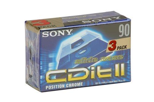 Sony C-90 C Dit2C Audiokassetten (90min) 3er Pack