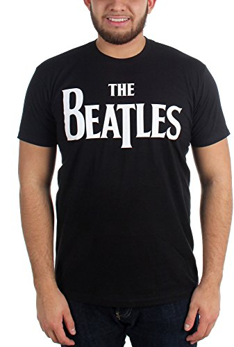 The Beatles Logo T Shirt (Nero) - Large