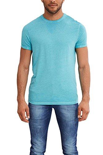 edc by ESPRIT Herren T-Shirt Blau (Turquoise 470)