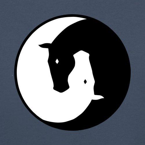 Yin Yang Pferd - Herren T-Shirt - 13 Farben Navy