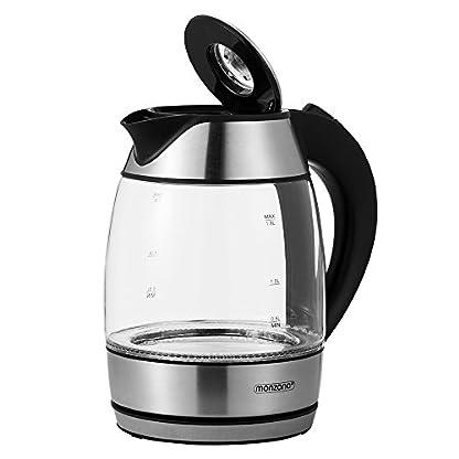 Monzana-Wasserkocher-Teekocher-Edelstahl-Kocher-Glas-LED-BPA-frei-kabellos-18-Liter-2200-Watt-360-drehbarer-Kontaktsockel