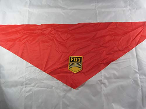 NVA Haltstuch rot Aufnäher FDJ ,DDR Ostalgie ()