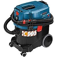 Bosch GAS 35 L SFC+ Professional - Aspirador para seco/húmedo (manguera de 3m, SFC+ módulo de filtro, 1200W, depresión máxima 254mbar, capacidad del depósito 35l)