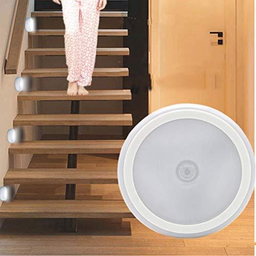 GKJRKGVF 6 LED-Licht Wireless PIR Auto Motion Nachtlicht Automatische menschlichen Körpers Sensing Kabinett Treppe Badezimmer Lampen