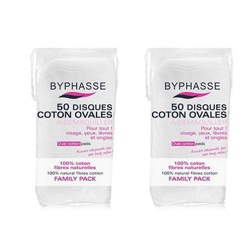 Byphasse LOT DE 2 - Disques coton ovales - 50 unités