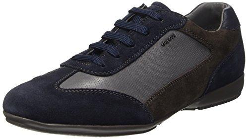 Geox U Efrem A Scarpe Low-Top, Uomo, Blu (Navy/Grey), 43
