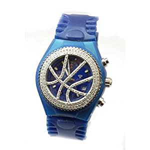 aqua master blaue uhr mit karat diamanten uhren. Black Bedroom Furniture Sets. Home Design Ideas