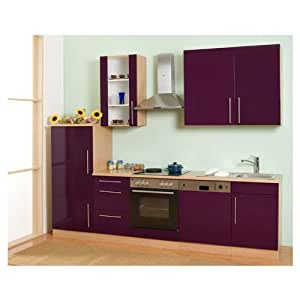 Mebasa MCUKB28BA Küche, Moderne Küchenzeile, hochwertige