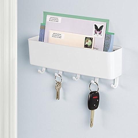 Etagère range-courrier, support à clés mDesign pour l'entrée ou la