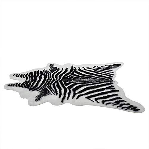 Stangent Alfombra de Piel sintética con diseño de Tigre, Antideslizante, con Estampado de Vaca y Leopardo, para Interiores y Exteriores