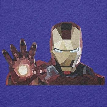 TEXLAB - Iron Polygon - Herren T-Shirt Marine