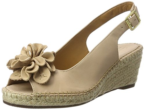 Clarks Petrina Bianca, Sandales Bout Ouvert Femme Beige (Nude Leather)