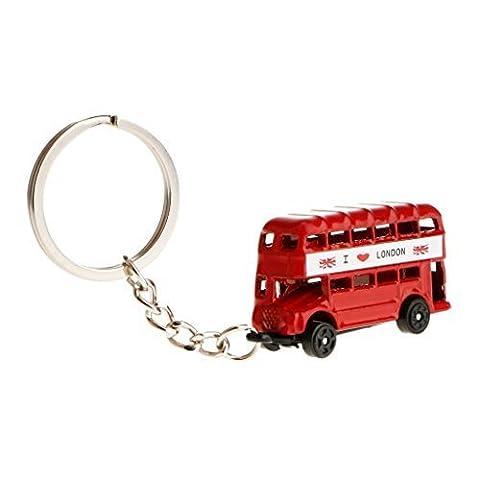 Roter Bus Schlüsselanhänger Schlüsselbund 3D Metall Druckguss I Love London Souvenir (Manchester Zu Weihnachten)