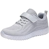33c6b41200c Huatime Boys Girls Sports Outdoor Running Road Shoes - Kid LED Flash Light  Up USB Trainers