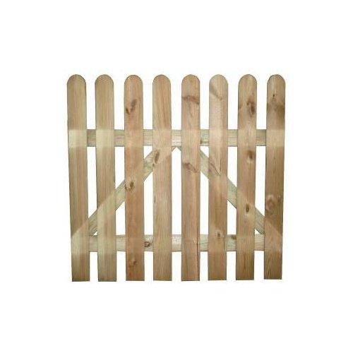 Cancelletto cancello in legno impregnato in autoclave 100x100h cm papillon