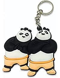 GCT Single Sided Kung Fu Panda Brothers Friends Animal Cartoon Movie Character Rubber Keychain | Key Ring For...