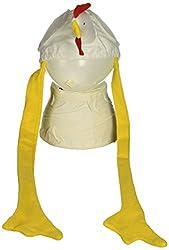 Rhode Island Novelty Chicken Hat, White/Yellow