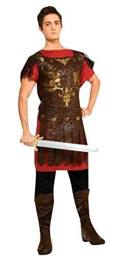 erdbeerloft - Herren Gladiatoren Kostüm- Oberteil Hose Schuhüberzieher Schwert, braun, (Gladiator Kostüm Film)