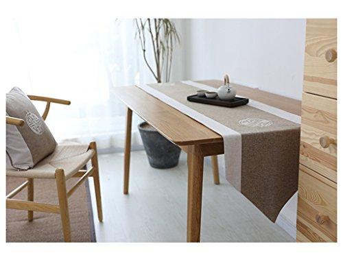 QiangZi Chemin De Table Coton Et Lin Broderie Salon Cuisine Bureau Table À Thé, Armoire À Chaussures, Et TV Stand \