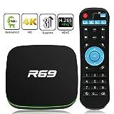 TV Box Android TV Sistema 8.1 - Leelbox Smart TV Box 2GB RAM & 16GB ROM, widevine L1, 4K*2K UHD H.265, USB*2, WiFi Media Player, Android Set-Top Box