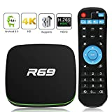 Android 8.1 TV Box, Leelbox Smart TV Box Quad Core 2GB RAM+16GB ROM, 4K*2K UHD H.265, HDMI, USB*2, WiFi Media Player, Android Set-Top Box con Voice Remote Control