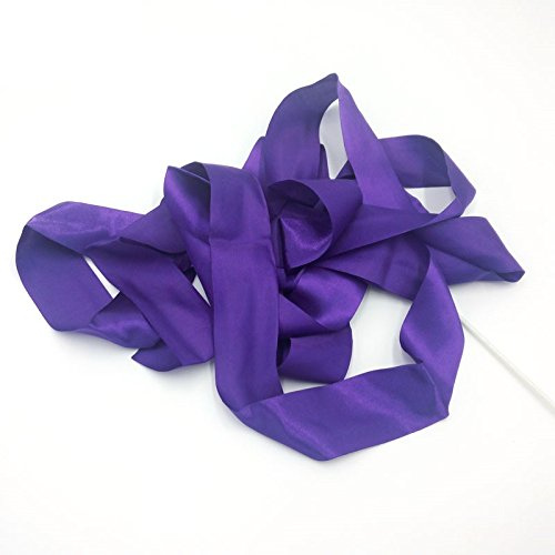 Haahaha Violet Couleur 4metre Gym Danse ruban Art Ballet de gymnastique rythmique Streamer dansante Tige Haahaha