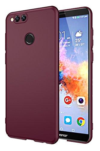 EIISSION Huawei Honor 7X Coque,Ultra mince La surface lisse Pleinement entouré de protection téléphone pour Huawei Honor 7X Smartphone Housse Case ,violet