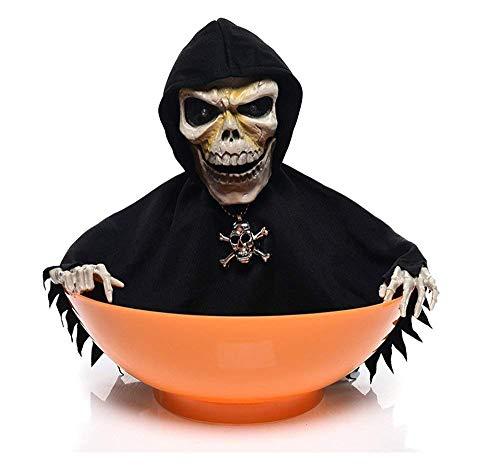 Süßigkeitenschale mit schimpfender Hexe und Bewegungsmelder für Halloween Süßigkeiten