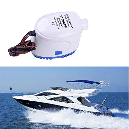 DONGMAO Pompe à Eau Automatique de cale Submersible Automatique de 12V 1100GPH 3.2A avec Le commutateur de Flotteur