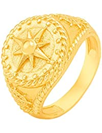 Dare Brass With Yellow Gold Plated Rings For Men