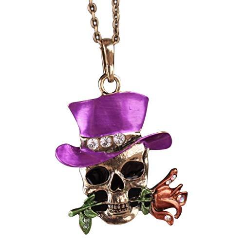 ag der Toten, Sugar Skull lang große Schädel Anhänger Halskette - perfekte Cosplay - Halloween Zubehö