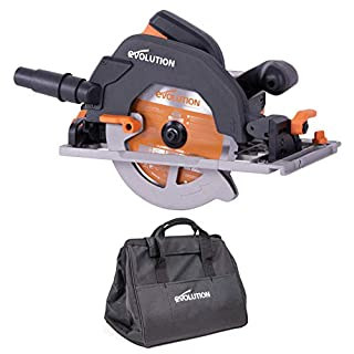 Evolution Power Tools R185CCSX+ Multi-Material Track Saw With Plus Pack, 185 mm (230 V)