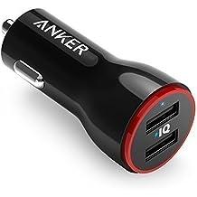 Anker Caricatore da auto 24W 2 Porte USB PowerDrive 2 - Caricabatterie da auto 2 Porte per iPhone 6 / 6 Plus, iPad Air 2 / mini 3, Galaxy S6 / S6 Edge e altri