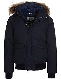 600afb1f3 Pyrenex Mistral Fur Trim Bomber Jacket in Black