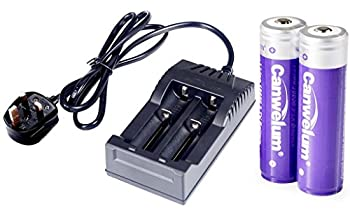 5795bd2adbb Canwelum Protected 3.7V 18650 Lithium Ion Battery and Charger ...