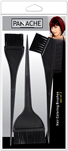 PANACHE Hair Colouring Brushes (Set of 3), Best Seller Hair Dye Tool, Beauty, Hair Care & Styling, Hair Styling Tools.