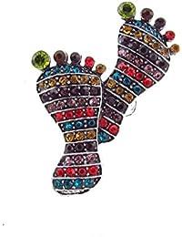 Wunderschöner Foot-Ring mit bunten Zirkonia Strass-Steinen besetzt