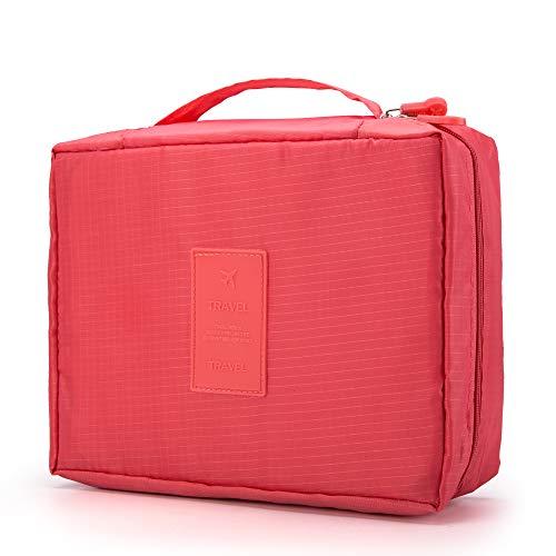Rusty Bob - Sac cosmétique pour Voyage | Sac de lavage | sacs de toilette | Trousse de toilette | Sac de bain | Mesdames et messieurs (Rouge)
