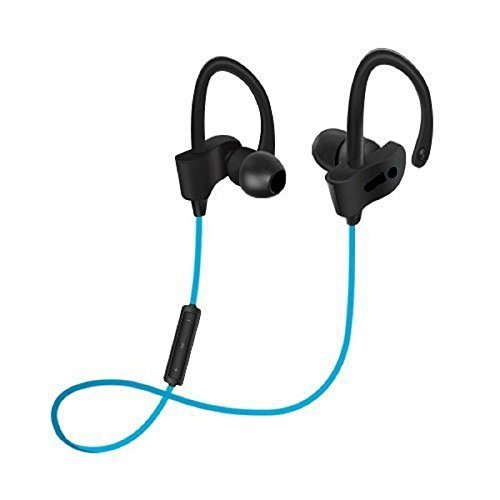 Kanish Sales Wireless Bluetooth Headphone with Stereo Sound and Mic for All Android and IOS(Blue)