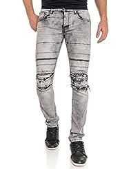 BLZ jeans - Jean gris délavé déchiré