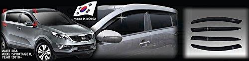 Autoclover Windabweiser-Set für Kia Sportage 2010-2015, 4-teilig (geräuchert)