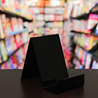 EPOSGEAR Small Plastic Acrylic Perspex Book Plate Retail Display Stand Holder - Perfect for Schools, Nurseries, Libraries etc (Black)