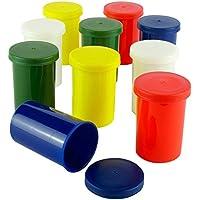 Bunte Filmdosen - stabiler Kunststoff - für Geocaching oder Kleinteile (25 Stück)