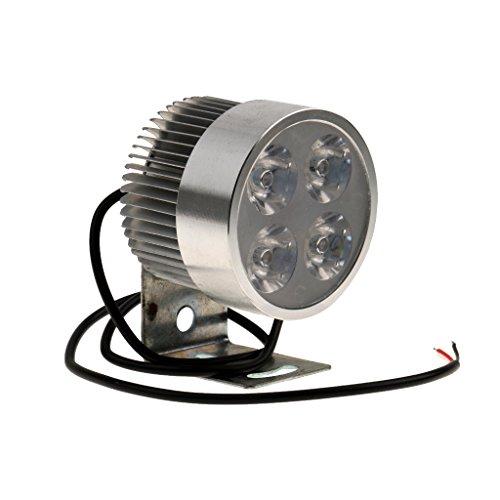 Preisvergleich Produktbild Weiß 20W LED Motorrad Aluminium Scheinwerfer Spot Licht Mit Klemm Silber