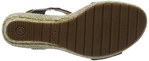 Gabor Shoes Comfort, Sandali con Zeppa Donna Nero (schwarz Bast)