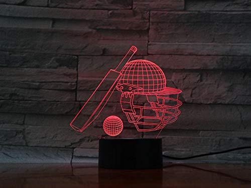 Nachtlicht-Baseball Queue-Fernbedienung 3D-Diashow, Illusionslicht, Led-Atmosphärenlicht, Kindergeschenk, Inneneinrichtung