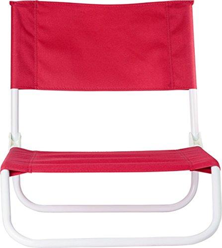 Strandstuhl Beach Klappstuhl Strand 48x44,5x52 Strand Stuhl 1.2Kg faltbar auf ca 64 x 45 x 16 cm Camping Stuhl Farbwahl (Rot)